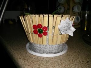 Pot de fleurs boutons